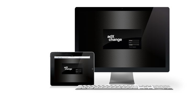 AdXchange Login-Screen iPad/Desktop